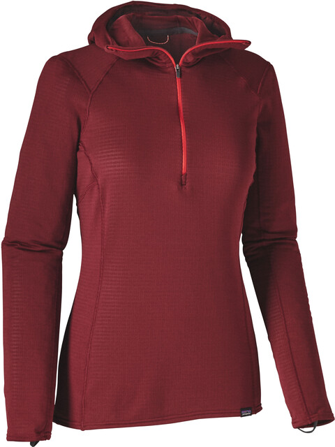 Patagonia W's Capilene Thermal Weight Zip Neck Hoody Drumfire Red